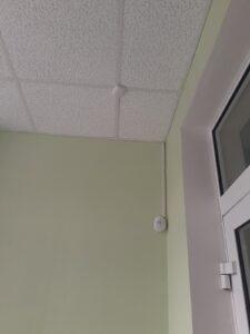 Охранно-пожарная сигнализация - Дымовой датчик - школа села Ярково